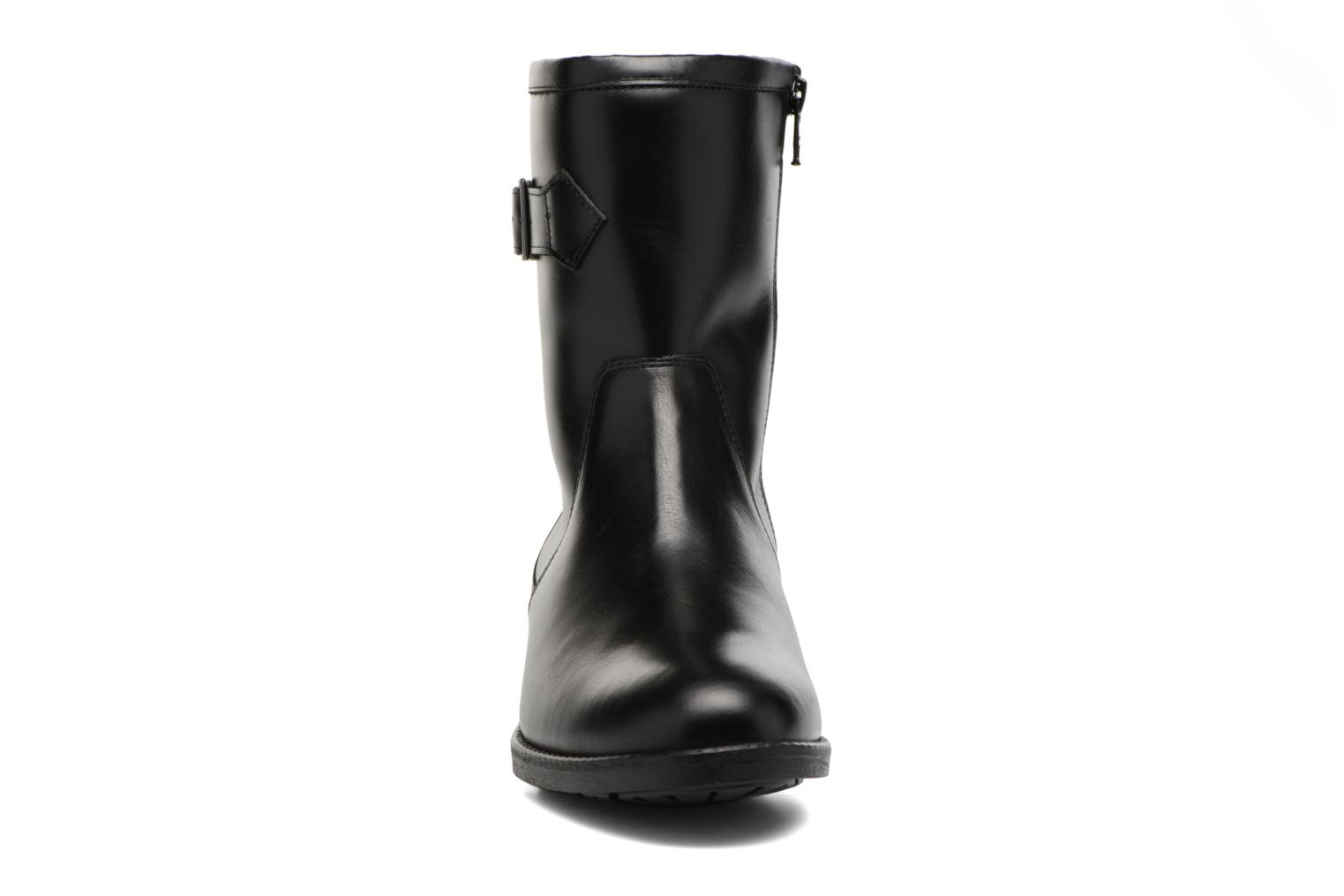 Boots & wellies Aigle Chante Mid Fur Black model view