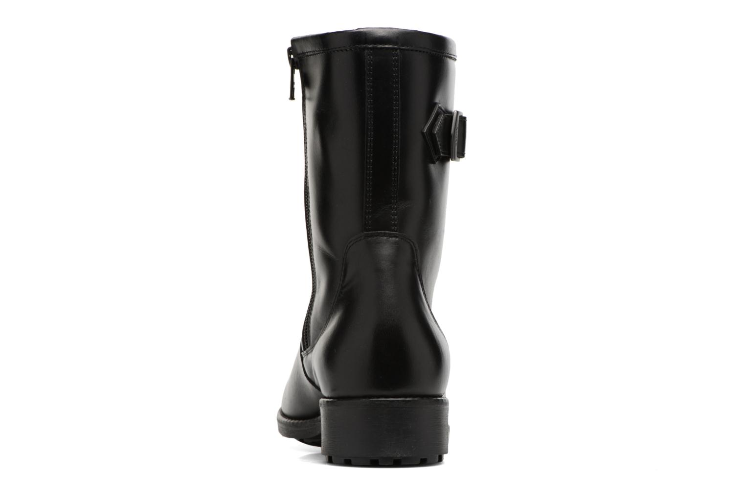 Boots & wellies Aigle Chante Mid Fur Black view from the right