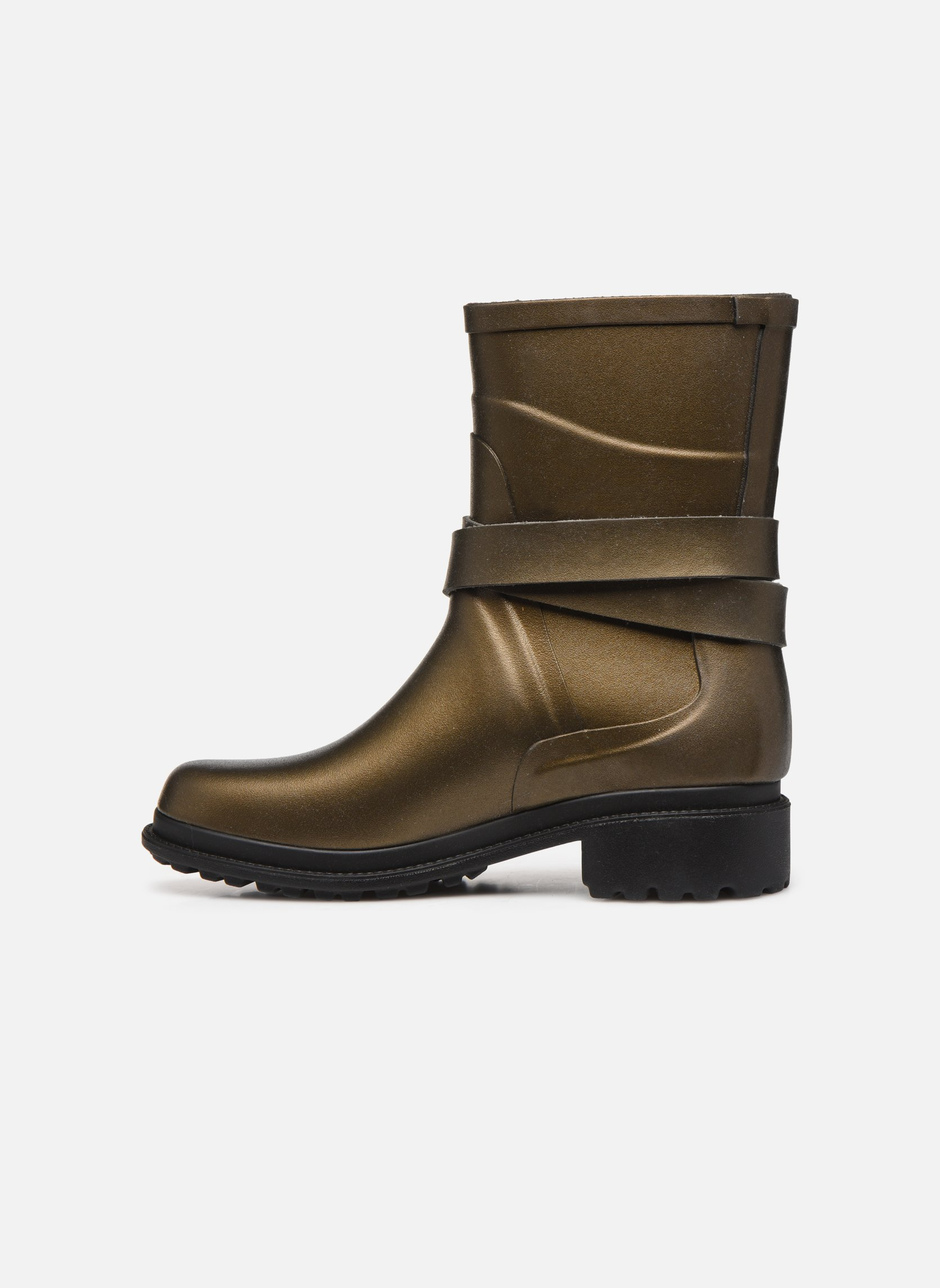 Boots & wellies Aigle Macadames MD Bronze and Gold front view