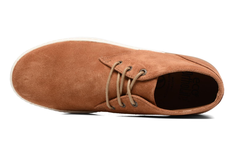 Chaussures à lacets Aigle Lonriver Mid Marron vue gauche
