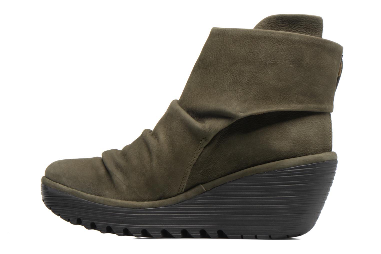 Stiefeletten & Boots Fly London YOMI grün ansicht von vorne