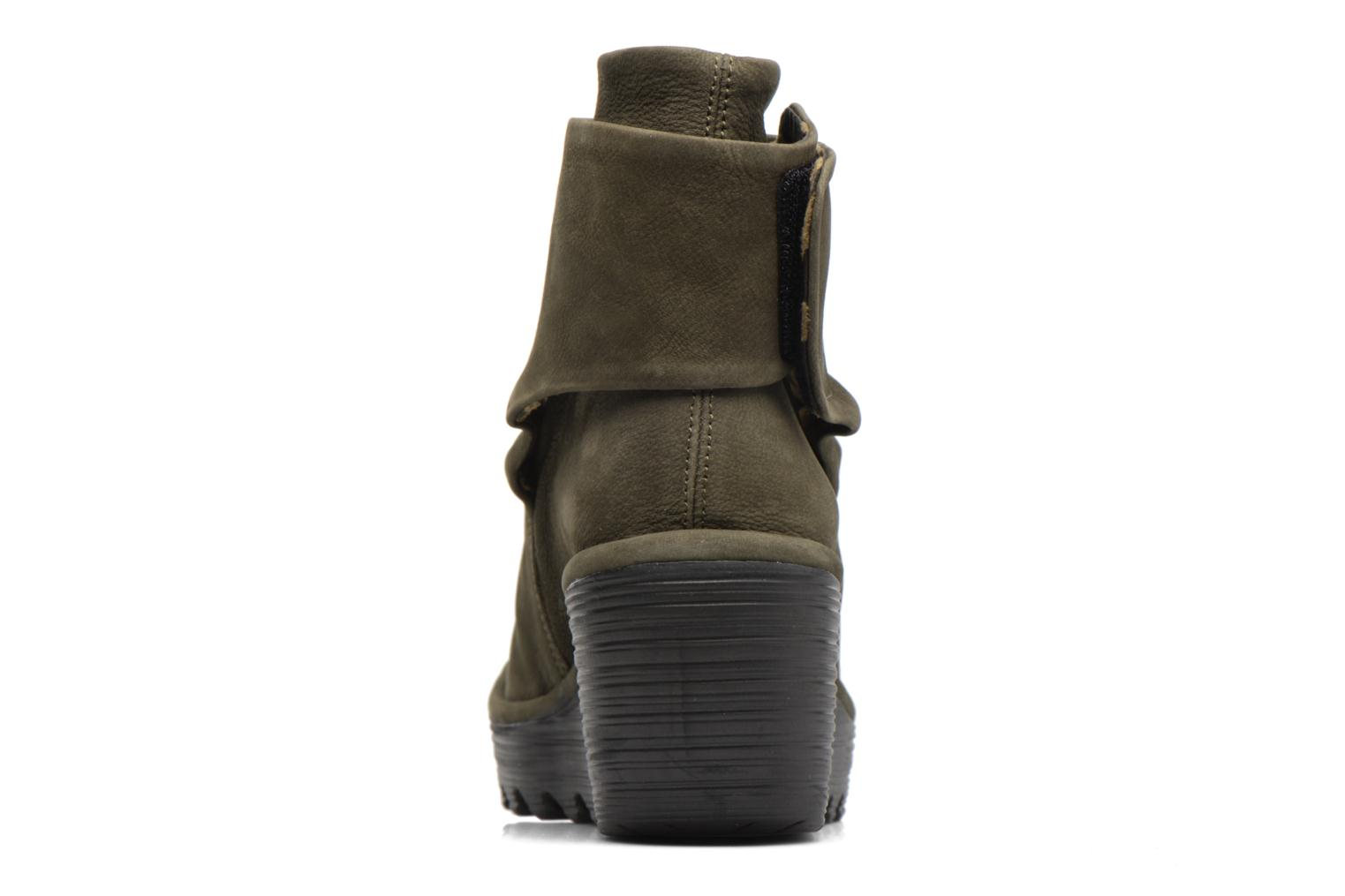 Ankle boots Fly London YOMI Green view from the right