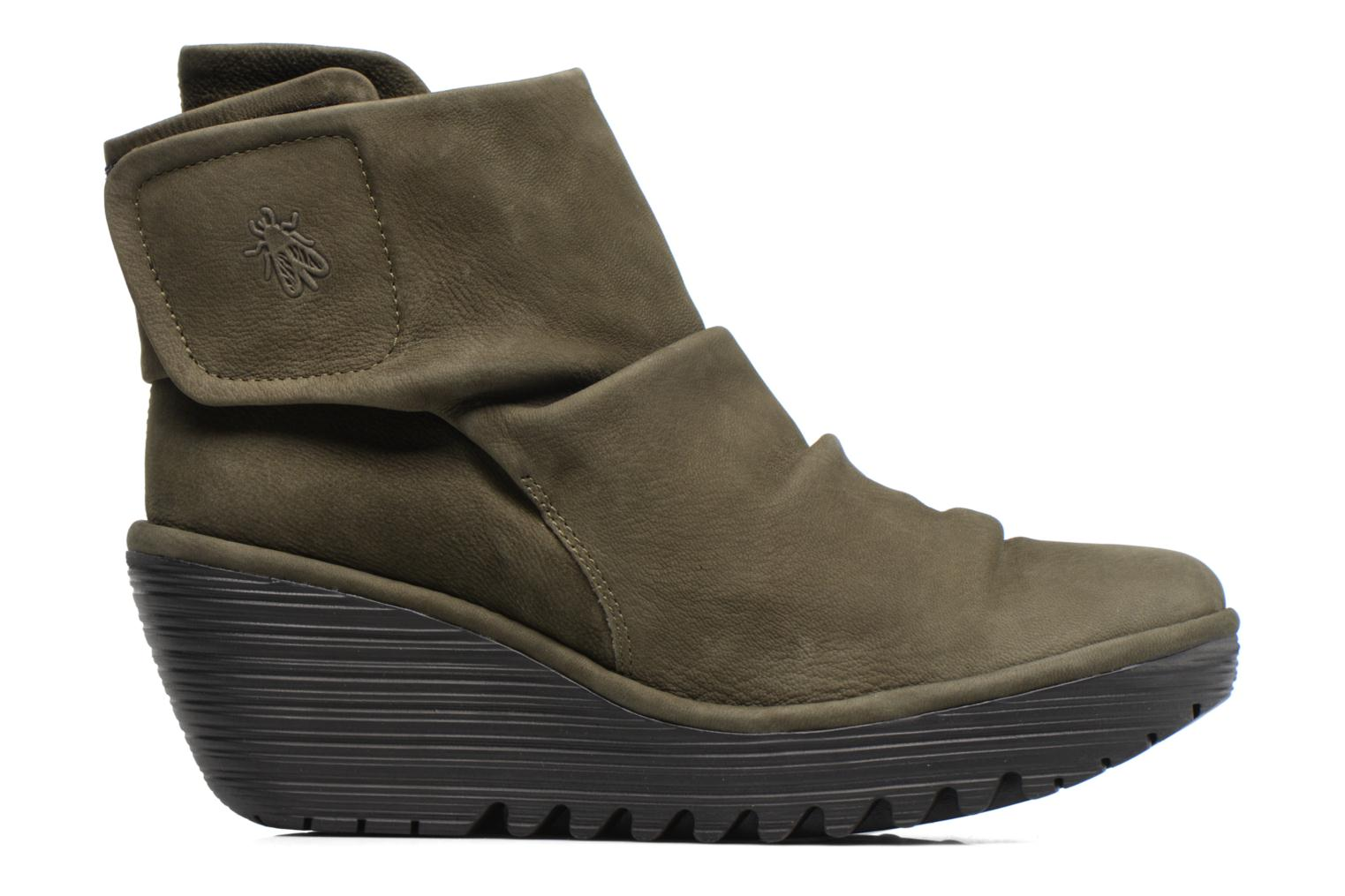 Ankle boots Fly London YOMI Green back view