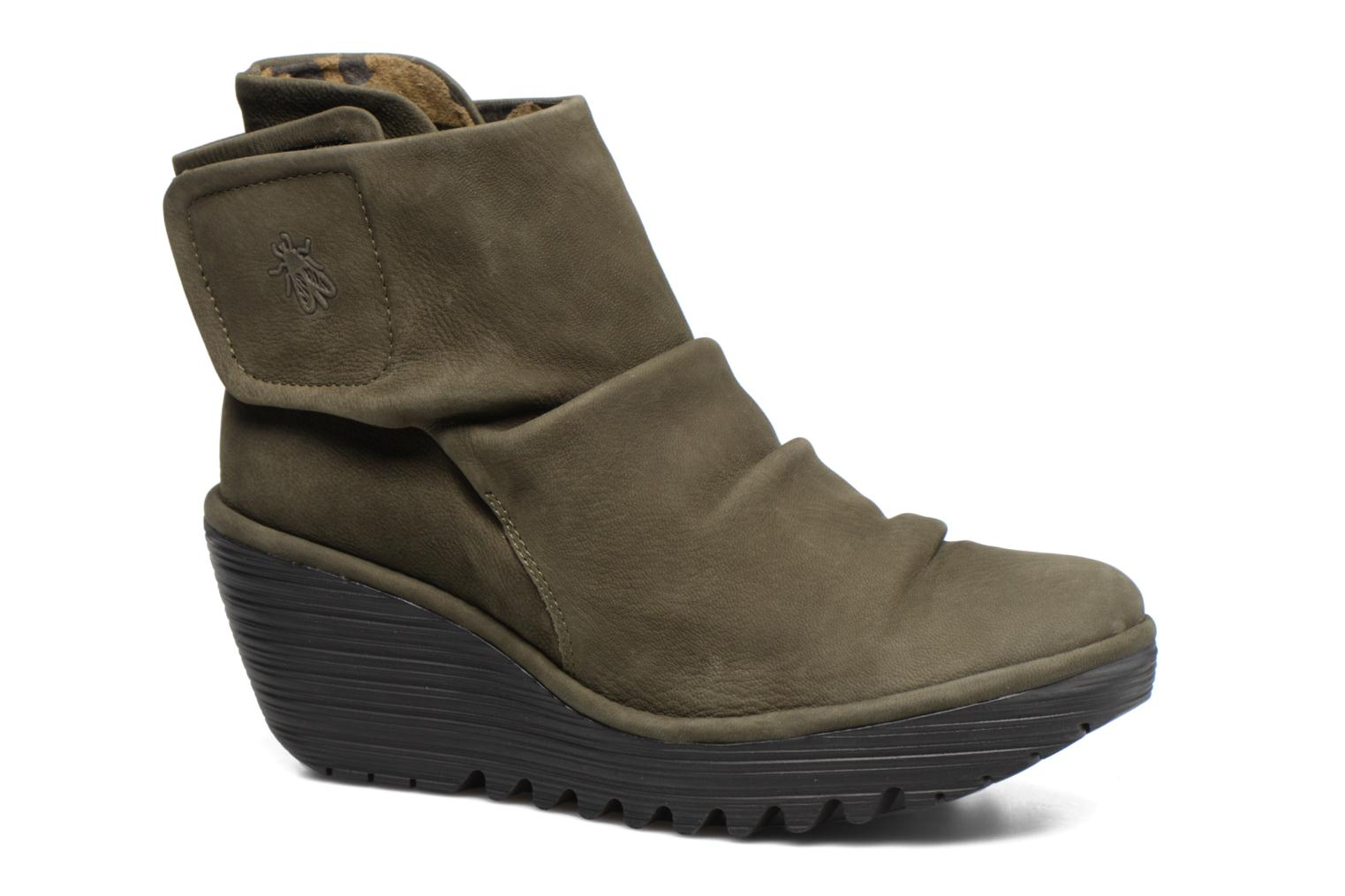 Ankle boots Fly London YOMI Green detailed view/ Pair view