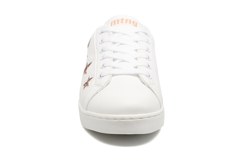 Baskets MTNG Garza Blanc vue portées chaussures