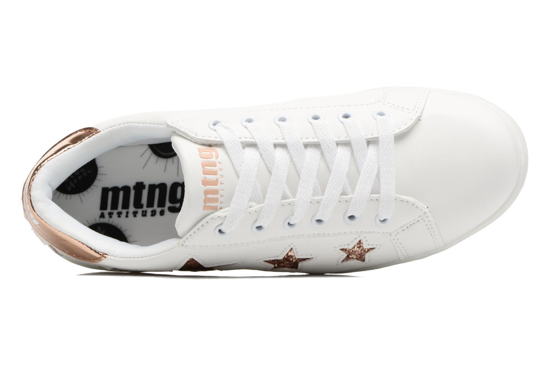 Baskets MTNG Garza Blanc vue gauche