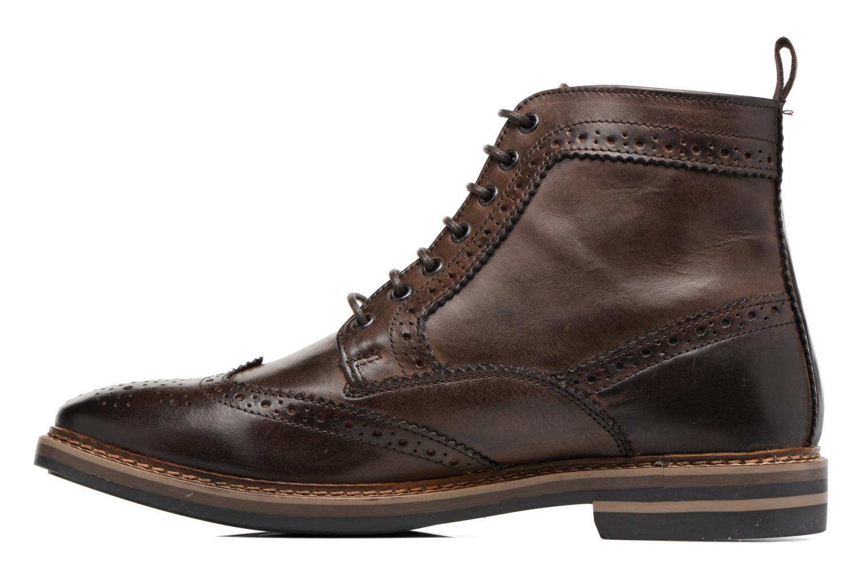 Bottines et boots Base London Hurst Marron vue face