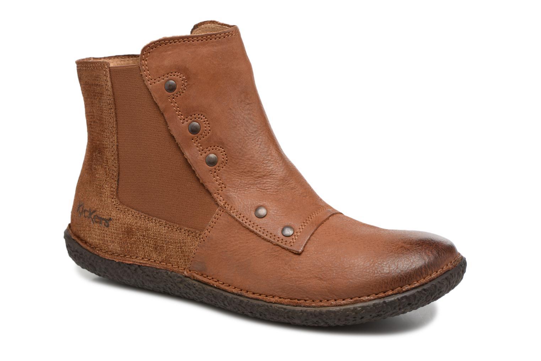 Kickers HAPPLI (Marron) - Bottines et boots chez Sarenza (324279)