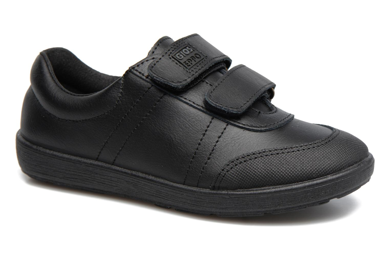Velcro shoes Gioseppo NEWTON Black detailed view/ Pair view