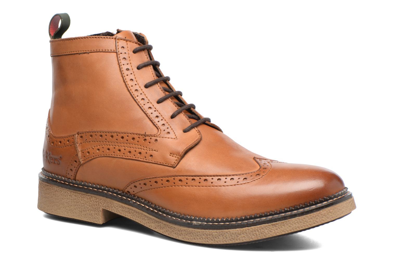 Bottines et boots Kickers FORTINO Marron vue détail/paire