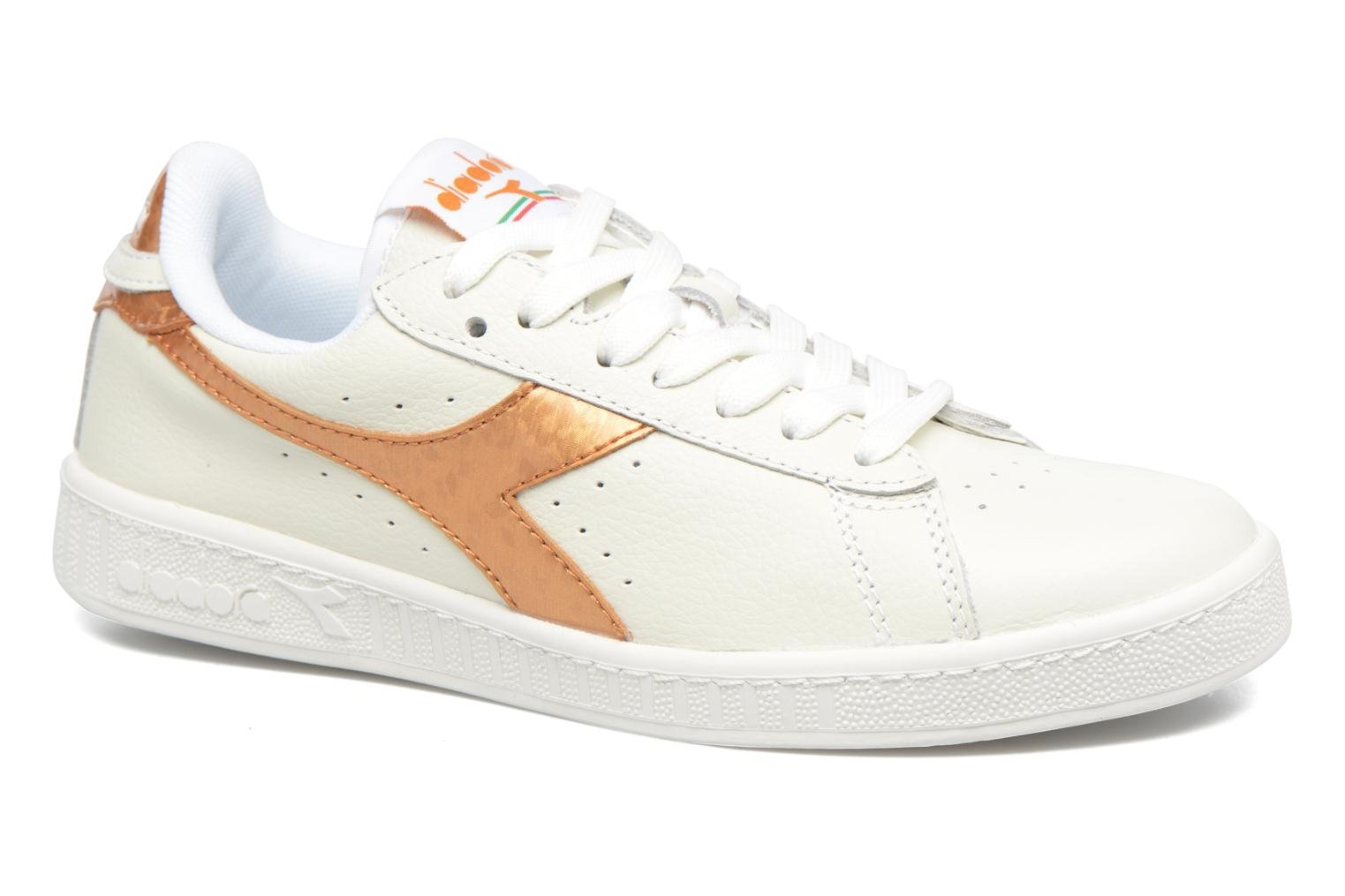 White/gold Diadora GAME METALLIC (Blanc)