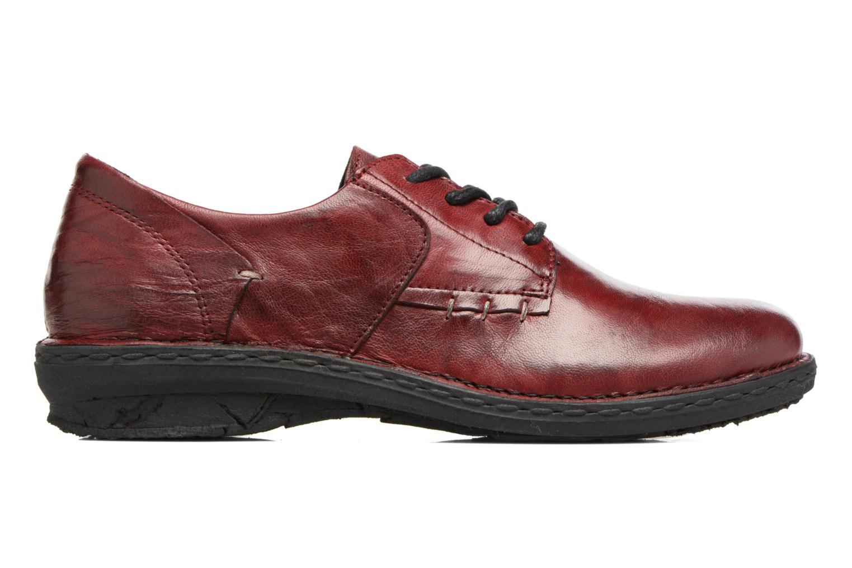 Chaussures à lacets Khrio Brancer Rouge vue derrière