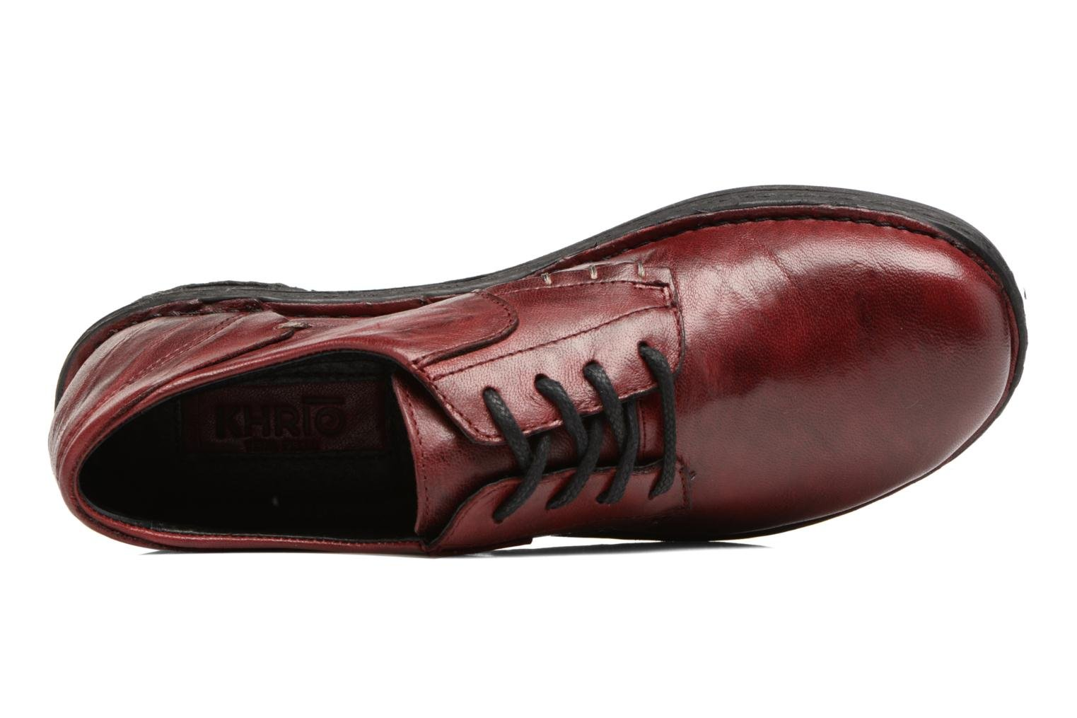 Lace-up shoes Khrio Brancer Red view from the left