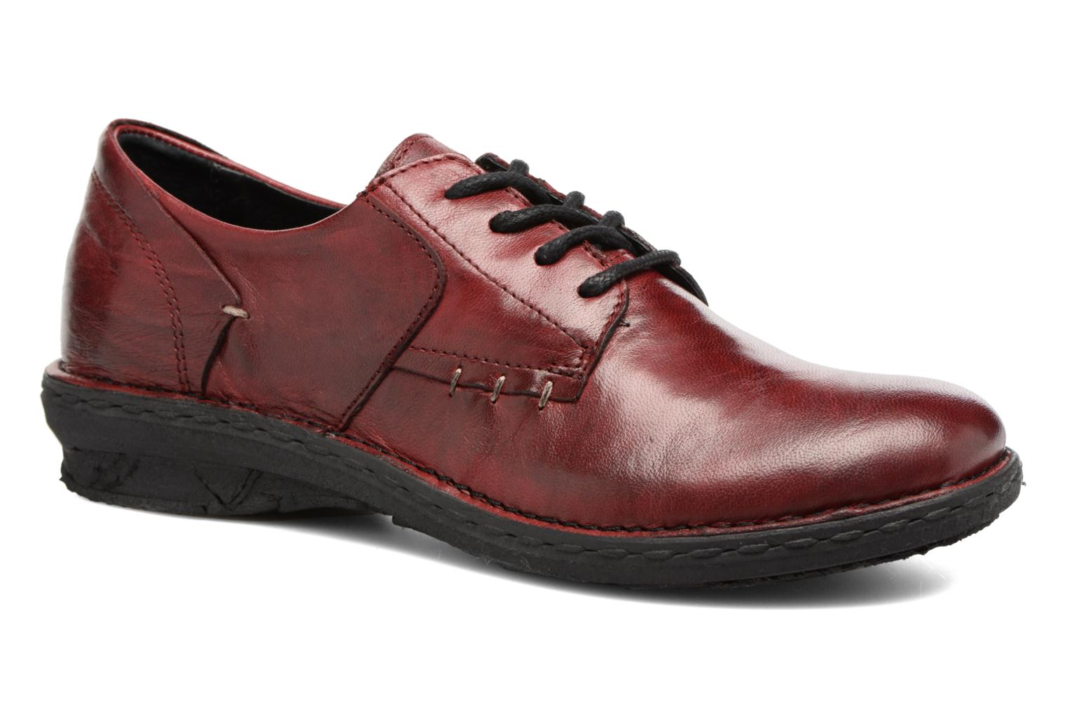 Lace-up shoes Khrio Brancer Red detailed view/ Pair view
