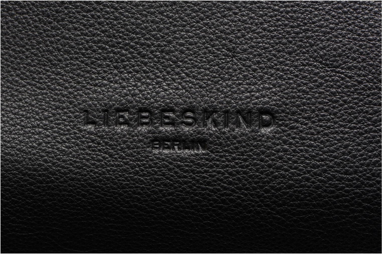 Sacs à main Liebeskind Berlin Kaethe C7 Cabas Zippé Noir vue gauche