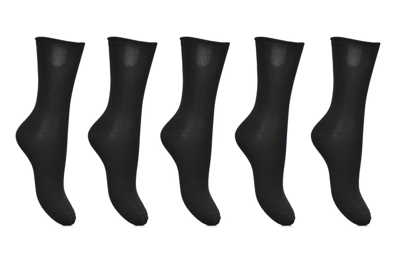 Chaussettes et collants Pieces Chaussettes Emmy Lot de 5 Noir vue détail/paire