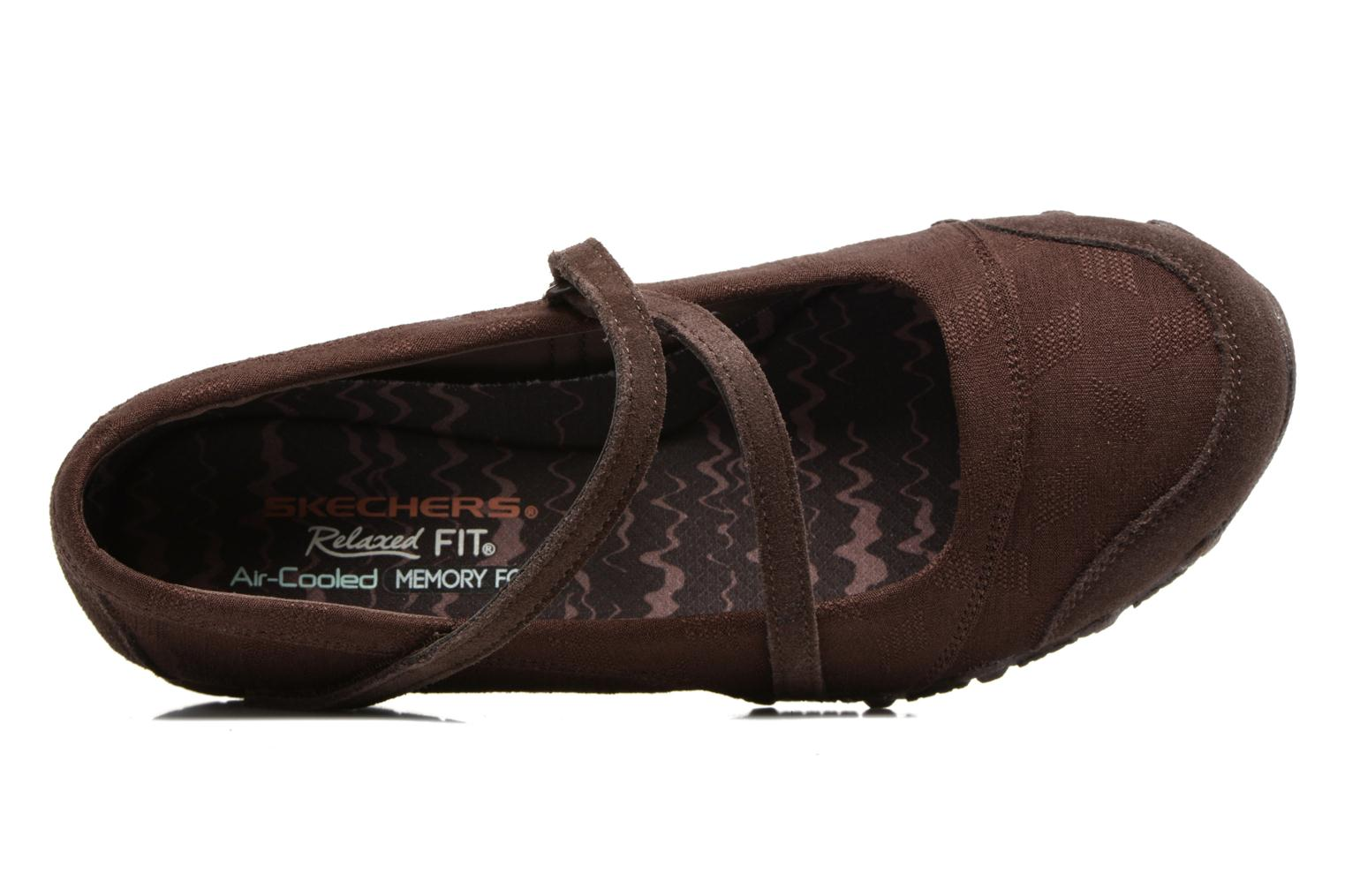 Ballerines Skechers Go step lite quaint Marron vue gauche