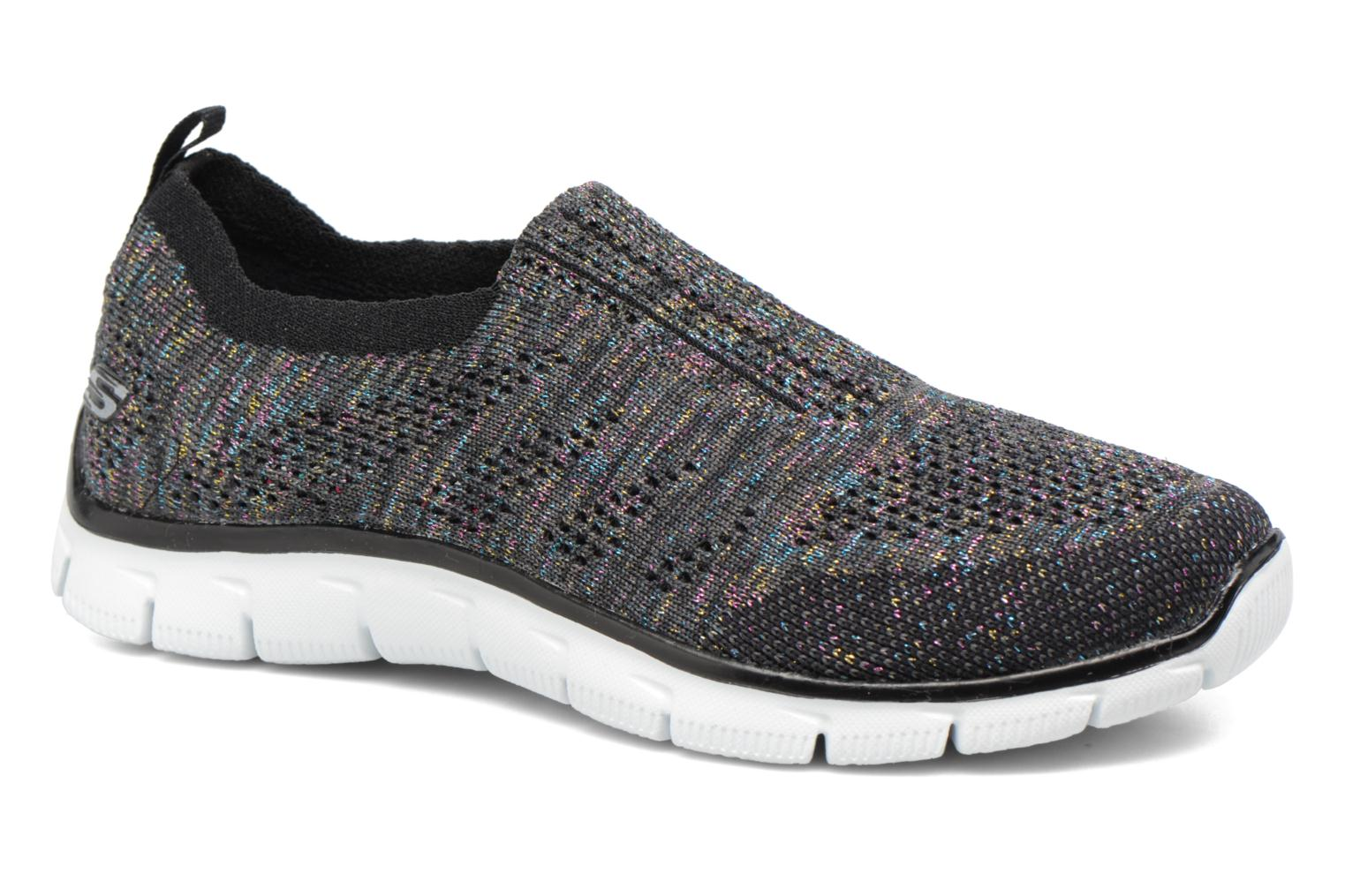 Trainers Skechers Empire round up Black detailed view/ Pair view