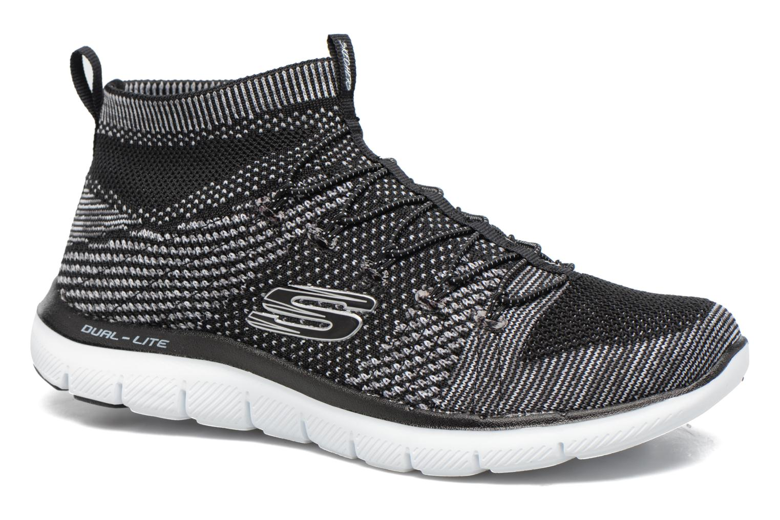 Sport shoes Skechers Flex Appeal 2.0 Hourglass Black detailed view/ Pair view
