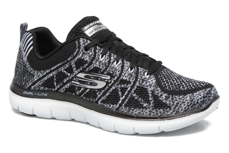 Chaussures de sport Skechers Flex Appeal 2.0 New Gem Noir vue détail/paire