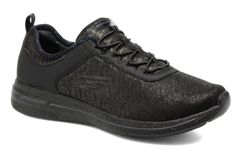 Sportssko Skechers Burst 2.0 Sunny Side Sort detaljeret billede af skoene