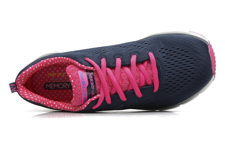 Zapatillas de deporte Skechers Fashion Fit Statement Piece Azul vista lateral izquierda