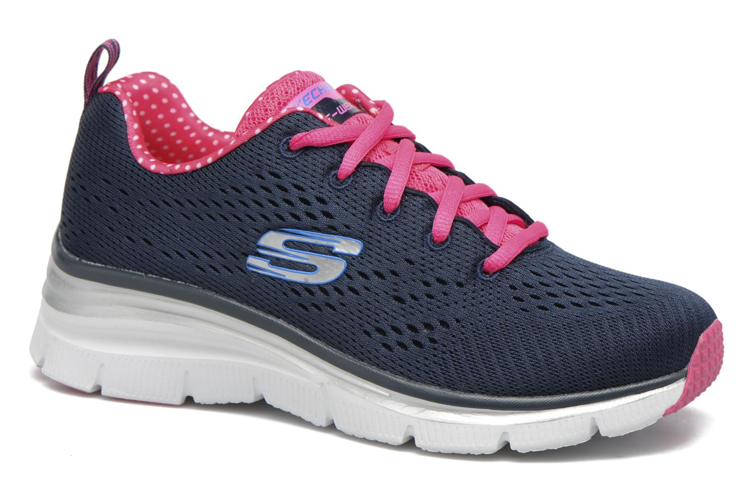 Zapatillas de deporte Skechers Fashion Fit Statement Piece Azul vista de detalle / par