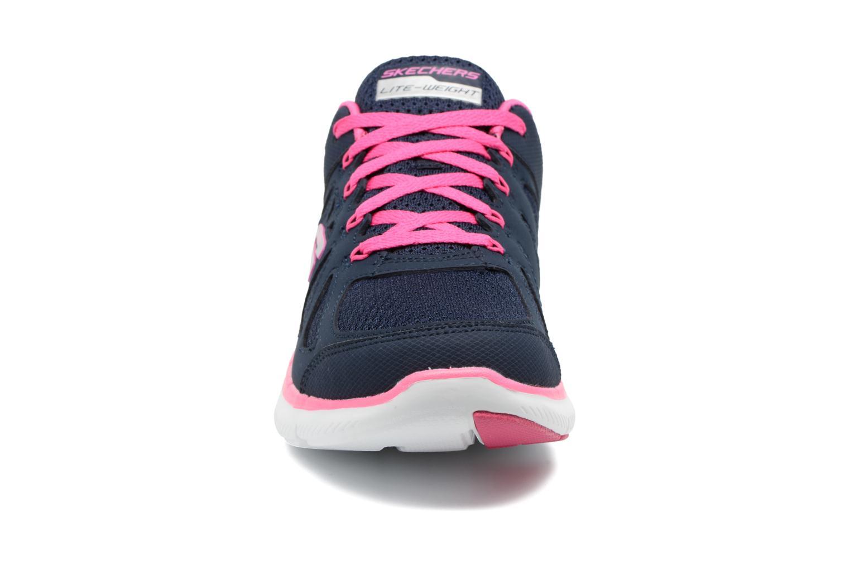 Sportschuhe Skechers Flex Appeal 2.0 Simplistic blau schuhe getragen