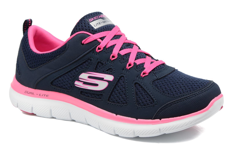 Sportssko Skechers Flex Appeal 2.0 Simplistic Blå detaljeret billede af skoene