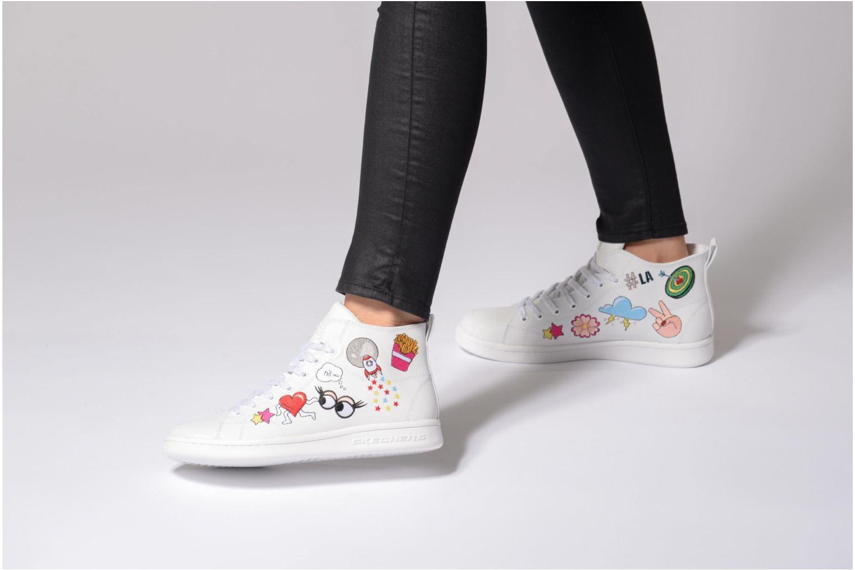 Sneakers Skechers Omne So L.A. Nero immagine dal basso