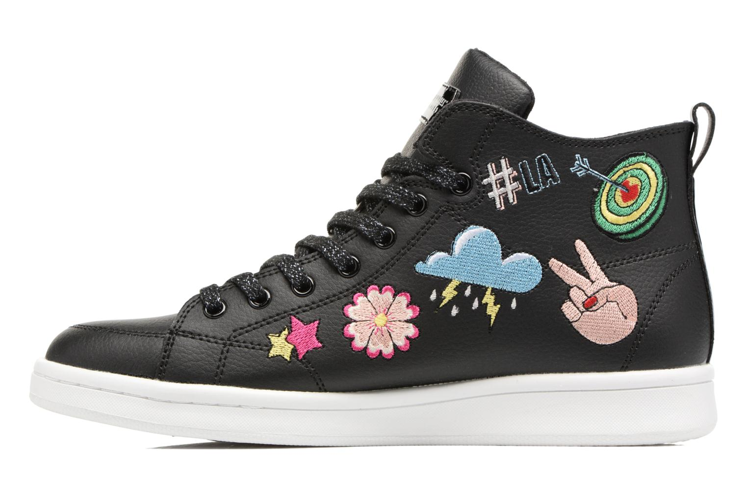 Trainers Skechers Omne So L.A. Black front view