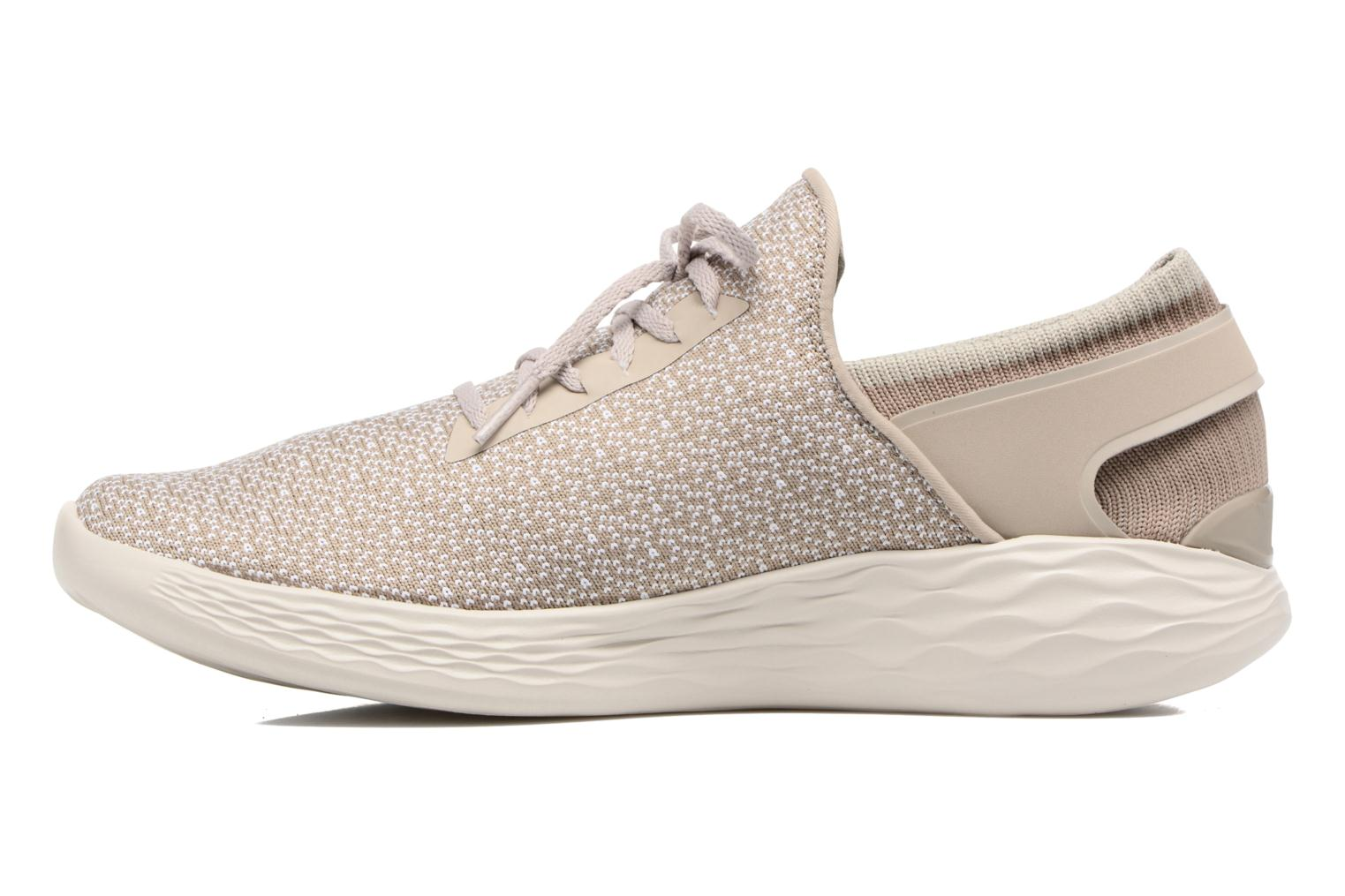 Sport shoes Skechers You Inspire Beige front view