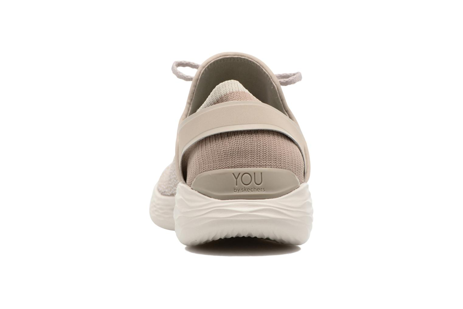 Sport shoes Skechers You Inspire Beige view from the right