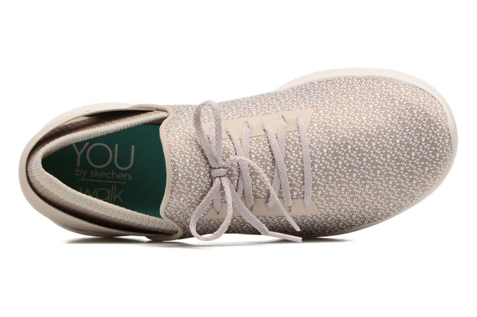 Sport shoes Skechers You Inspire Beige view from the left