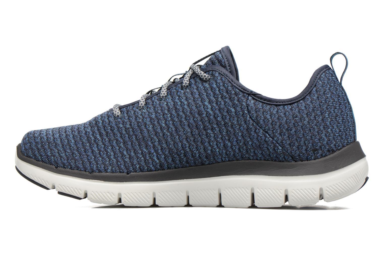 Chaussures de sport Skechers Flex Advantage 2.0 Crazy Bleu vue face