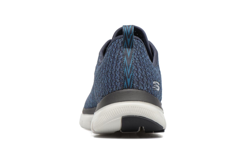 Chaussures de sport Skechers Flex Advantage 2.0 Crazy Bleu vue droite