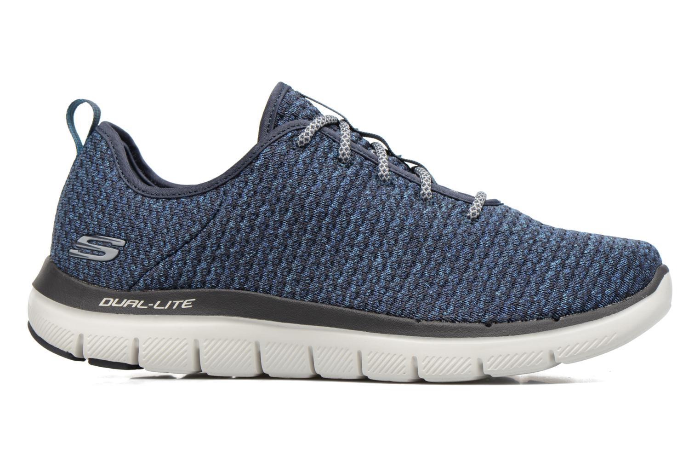 Chaussures de sport Skechers Flex Advantage 2.0 Crazy Bleu vue derrière