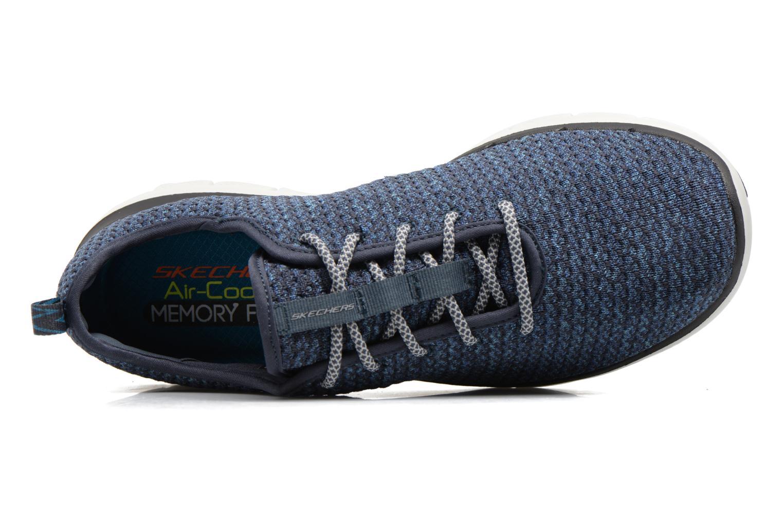 Chaussures de sport Skechers Flex Advantage 2.0 Crazy Bleu vue gauche