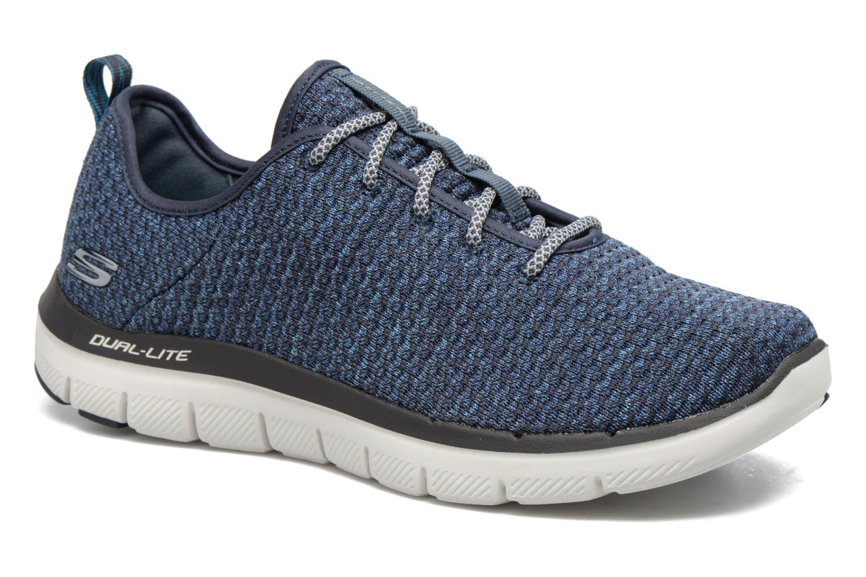 Chaussures de sport Skechers Flex Advantage 2.0 Crazy Bleu vue détail/paire