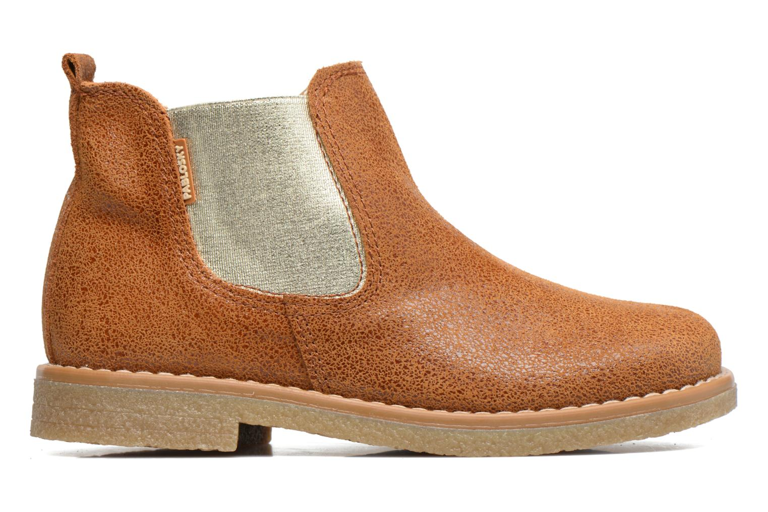 Ankle boots Pablosky Carla Brown back view