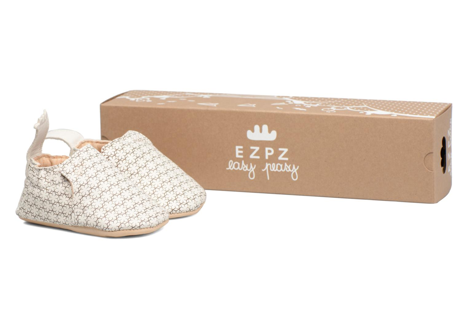 Chaussons Easy Peasy Blumoo Givre Blanc vue détail/paire