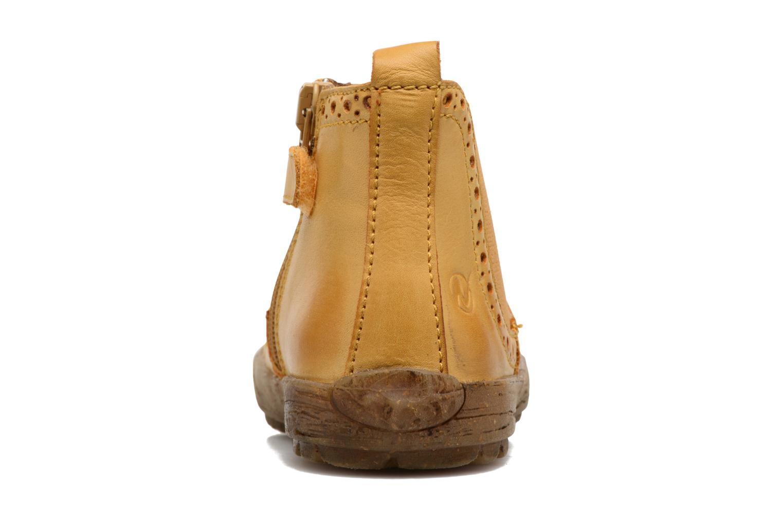 Bottines et boots Naturino Storm Jaune vue droite