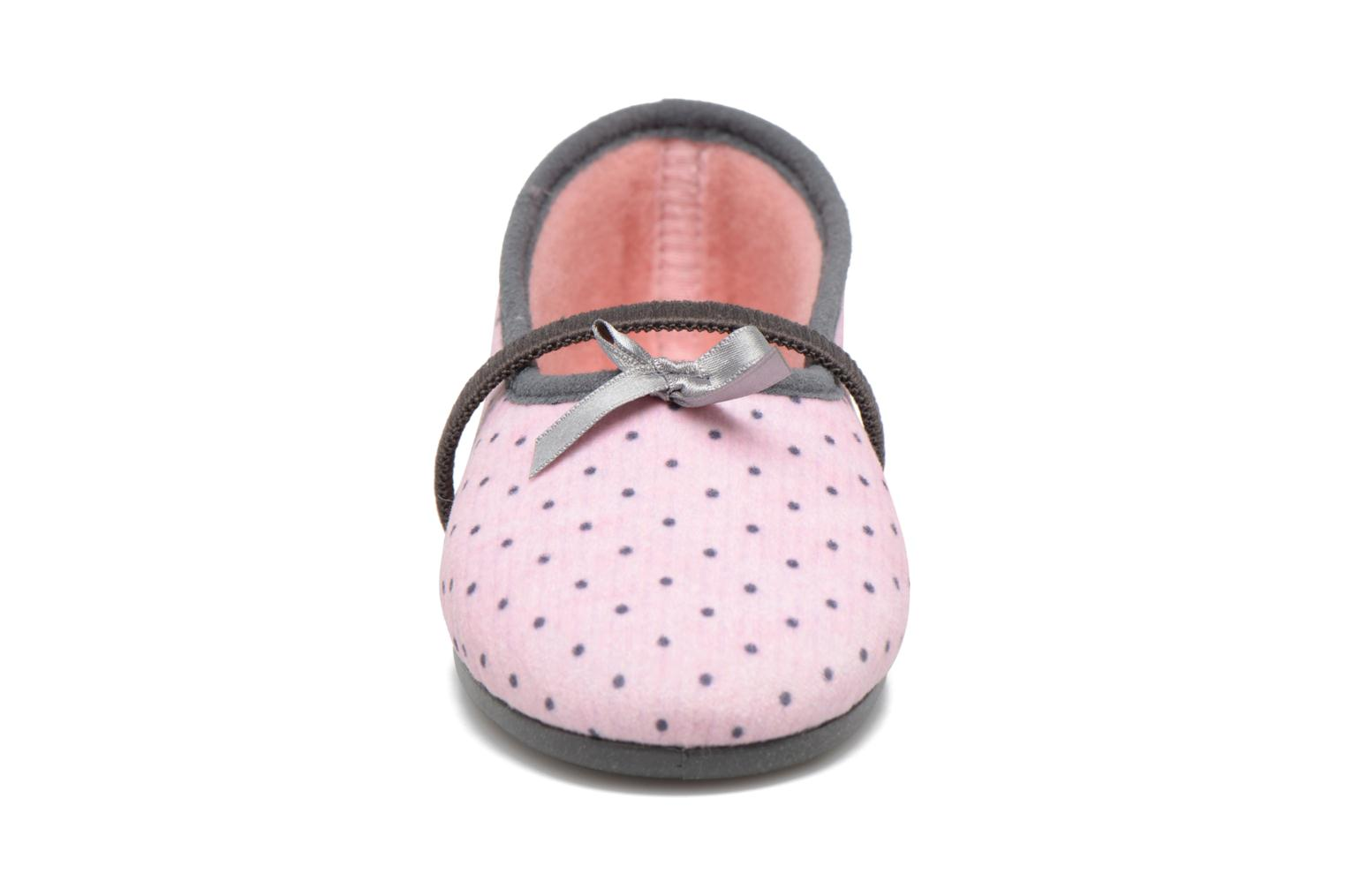 Chaussons Rondinaud Brou Rose vue portées chaussures