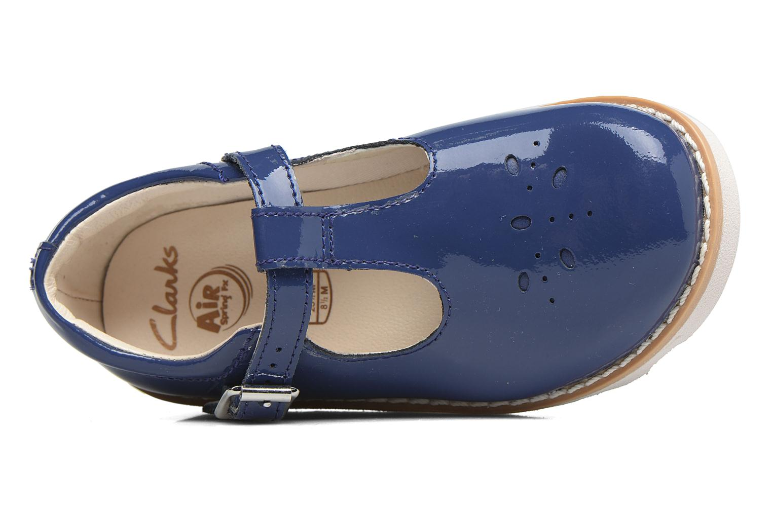 Ballerinas Clarks Crown Wish Inf blau ansicht von links