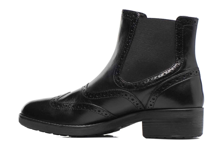 Boots en enkellaarsjes Geox D Ettiene B D746BB Zwart voorkant