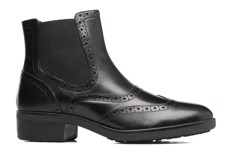 Boots en enkellaarsjes Geox D Ettiene B D746BB Zwart achterkant