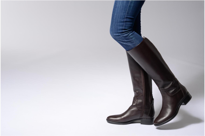 Stiefel Geox D Felicity A D74G1A schwarz ansicht von unten / tasche getragen