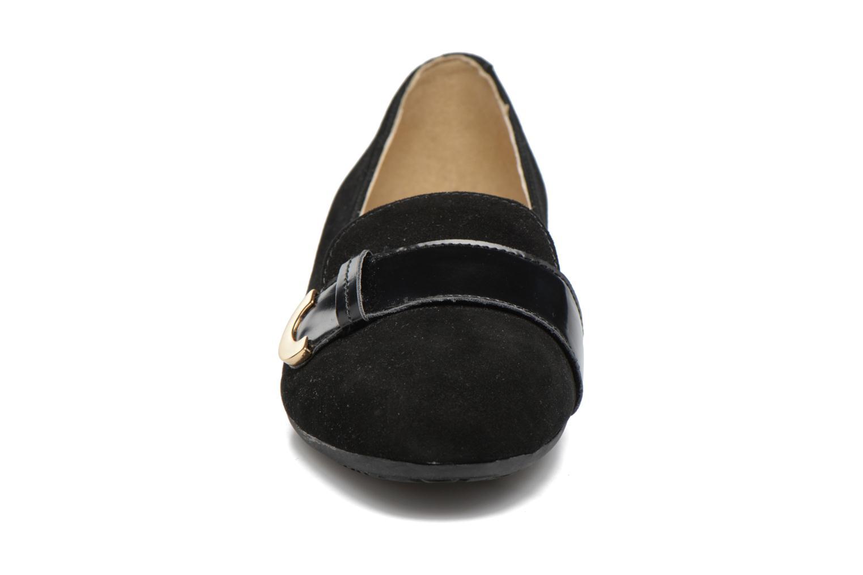 Ballerines Geox D Lola A D74M4A Noir vue portées chaussures