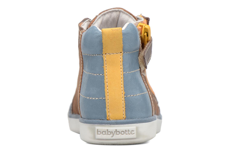 Sneaker Babybotte Akro braun ansicht von rechts