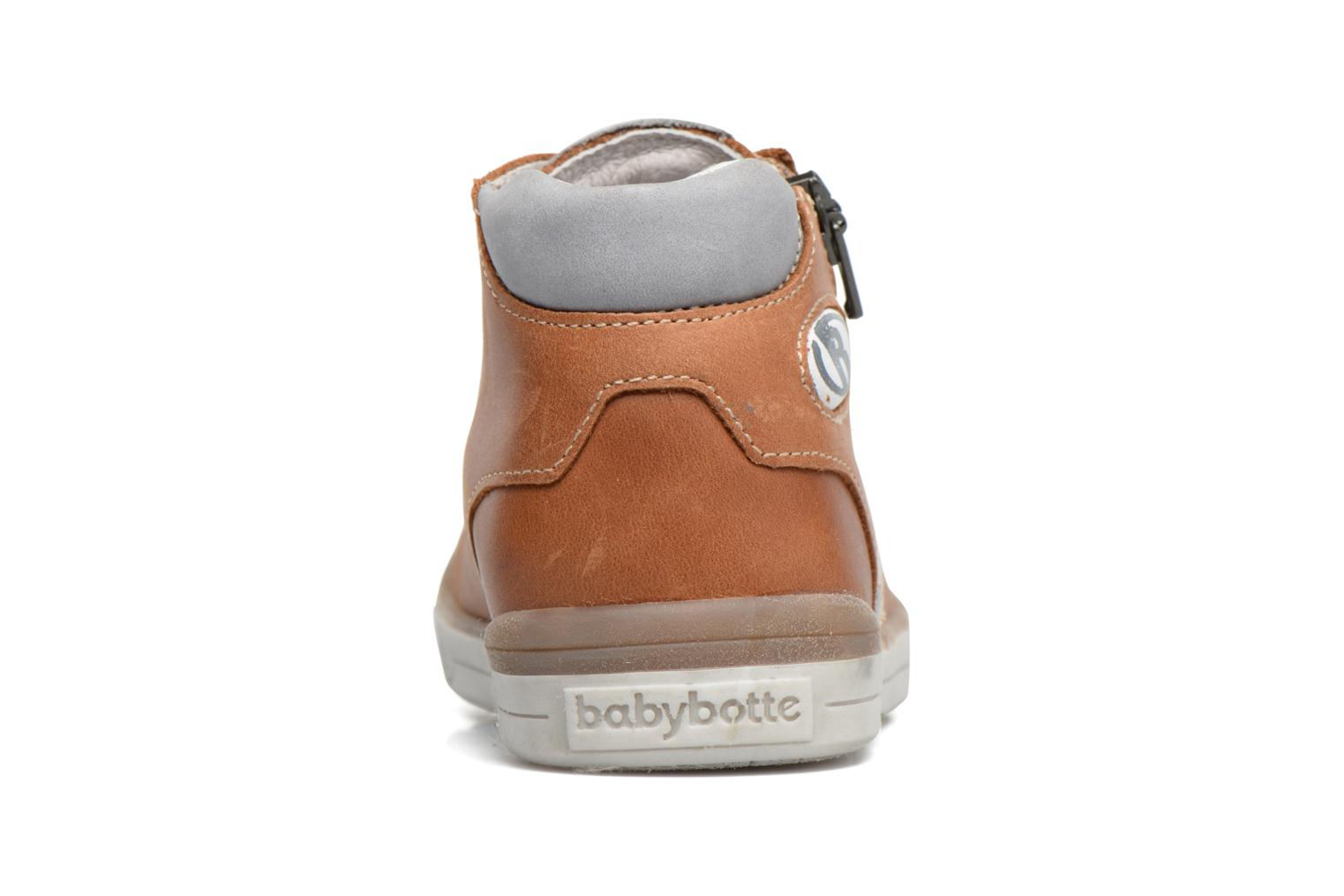 Trainers Babybotte B3 Lacet Brown view from the right